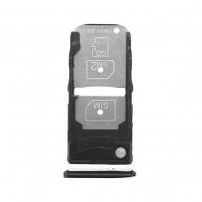 Bandeja Dual SIM+SD negra para Motorola One Zoom (XT2010-1)