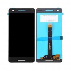 Pantalla completa original reparada para Nokia 2.1 (TA-1080) negra