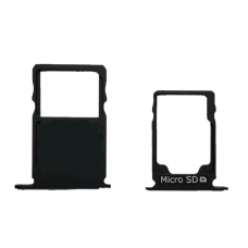 Bandejas SIM (single SIM) y micro SD negras para Nokia 3