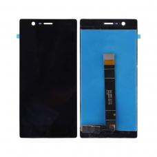 Pantalla completa original reparada para Nokia 3 negra