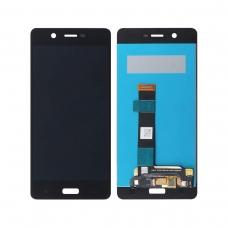 Pantalla completa original reparada para Nokia 5 TA-1053 DS negra