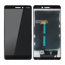 Pantalla completa original reparada para Nokia 6.1 negra
