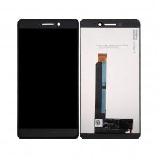 Pantalla completa original reparada para Nokia 6 negra