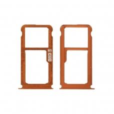 Bandejas SIM (single SIM) y micro SD naranja para Nokia 7 Plus