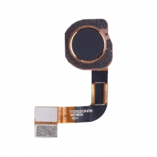 Botón de lector de huellas negro Nokia 7 Plus