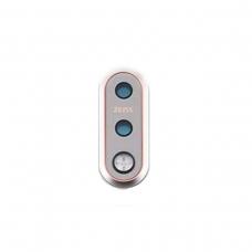 Embellecedor de cámara trasera plateada para Nokia 7.1