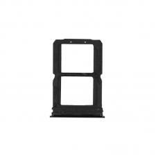 Bandeja de tarjeta Dual SIM negro para Oneplus 6/1+6