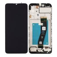 Pantalla completa con marco para Samsung Galaxy A02S 2020 A025G negra original