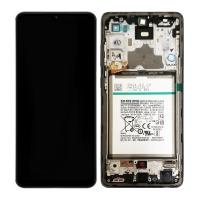 Pantalla completa con marco y batería para Samsung Galaxy A72 A725F negra original
