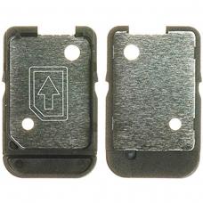 Bandeja de tarjeta SIM en color negro para Sony XA Ultra F3211