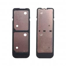Bandeja de tarjeta dual SIM negra paraSony Xperia XA F3112/L1 G3311