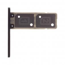 Bandeja de tarjeta Dual SIM negra para Sony Xperia XA1 G3121