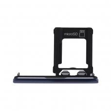 Bandeja de tarjeta Micro SD azul para Sony Xperia XZ1 G8341