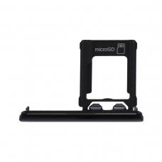 Bandeja de tarjeta Micro SD negra para Sony Xperia XZ1 G8341