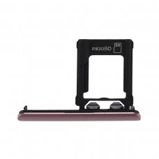 Bandeja de tarjeta Micro SD rosa para Sony Xperia XZ1 G8341