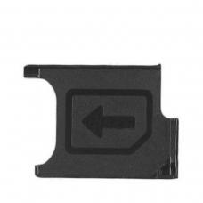 Bandeja de tarjeta SIM negra para Sony Xperia Z2 D6502/D6503/D6543/L50W