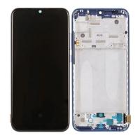 Pantalla completa con marco para Xiaomi Mi A3/Mi CC9e azul original nuevo