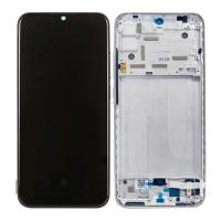 Pantalla completa con marco para Xiaomi Mi A3/Mi CC9e plata original nuevo