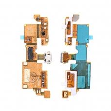 Flex inferior con micrófono conector micro USB y conector de cable coaxial ZTE Blade V6